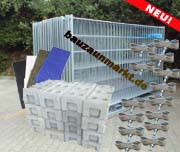 Bauzaunset 50 Meter Mobilzäune & Sichtschutzplane