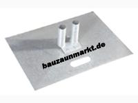Bauzaun Bodenplatte 70x50