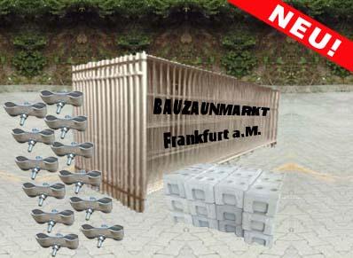 Bauzaun-Set/MZ5-1,20m halbhoch