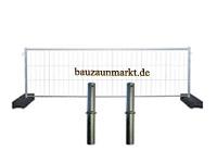 Bauzaunset-Stecksystem zur Bauzaunerhöhung