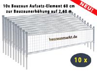 Mobilzaun/MZ9 - Erhöhung um 0,60 m auf 2,60 m gesamte Höhe