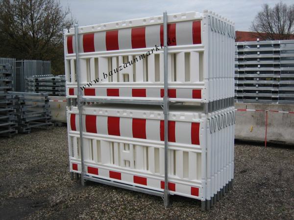 Transportpalette für Schrankenzäune